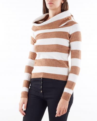 ANNA MOLINARI Maglia a righe con collo alto Anna Molinari  T-shirt   7M026A2743
