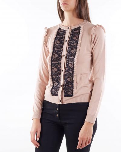 ANNA MOLINARI Cardigan con rouches e pizzo Anna Molinari  T-shirt   7M051A1741
