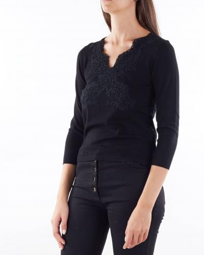 ANNA MOLINARI Maglia con pizzo Anna Molinari  T-shirt   7M088A140