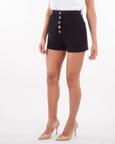 ELISABETTA FRANCHI Shorts in denim con bottoni oro gold Elisabetta Franchi  Shorts   HJ14D16E2110