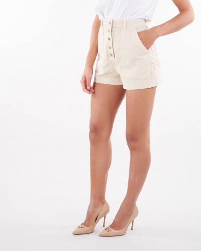 ELISABETTA FRANCHI Shorts in denim con bottoni oro gold Elisabetta Franchi  Shorts   HJ14D16E2193