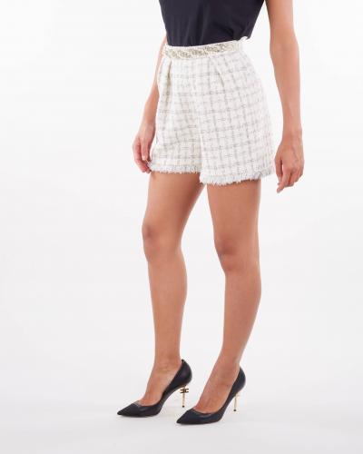 ELISABETTA FRANCHI Shorts in tweed con motivo check Elisabetta Franchi  Shorts   SH00516E2360