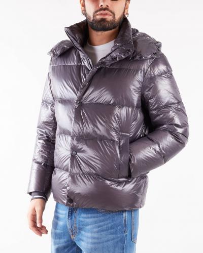 EMPORIO ARMANI Giubbotto con cappuccio in nylon lucido trapuntato Emporio Armani  Giubbotti | 6K1B881NPDZ633