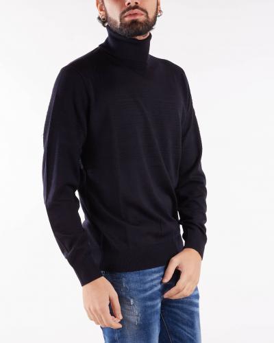 EMPORIO ARMANI Dolcevita in pura lana vergine con dettagli links Emporio Armani  T-shirt | 6K1MXG1MXTZ920