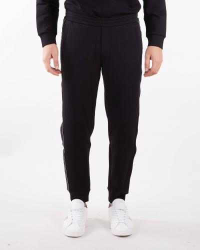 EMPORIO ARMANI Pantaloni jogger con tape logo jacquard Emporio Armani  Pantaloni | 6K1P631JHSZ999