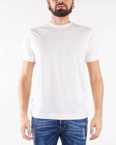 EMPORIO ARMANI T-shirt in jersey Pima con stampa eagle su logo stencil Emporio Armani  T-shirt | 6K1TA51JPZZ188