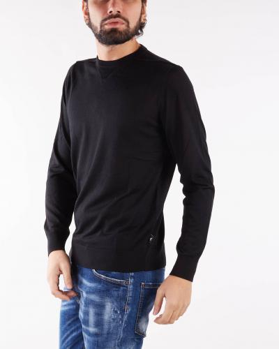 EMPORIO ARMANI Maglia in misto lana vergine rasata Emporio Armani  T-shirt | 8N1MUV1MJWZ999