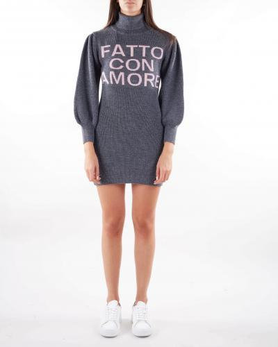 GIULIA N Abito ''Fatto con Amore'' Giulia N  T-shirt | GI21150GRIGIO