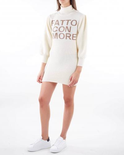GIULIA N Abito ''Fatto con amore'' Giulia N  T-shirt | GI21150PANNA