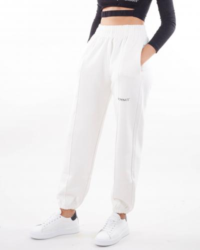 HINNOMINATE Pantalone con micro stampa logo Hinnominate  Pantaloni | SP38BIANCO