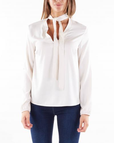 IMPERIAL Blusa monocolor con scollo a V dettaglio fiocco Imperial  Camicie | CKC9CCECHAMPAGNE