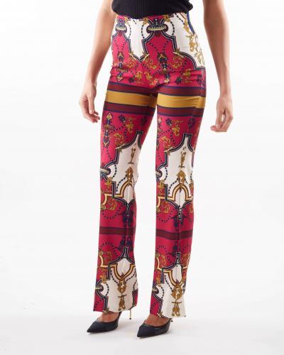 IMPERIAL Pantaloni ampi a vita alta Imperial  Pantaloni | P2C9CKRMULTICOLOR