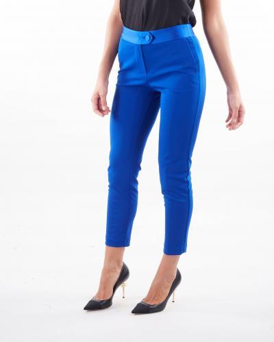 IMPERIAL Pantalone skinny con bustino in raso Imperial  Pantaloni | PVN2CDHROYAL