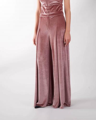 MATILDE COUTURE Pantalone in velluto Matilde Couture  Pantaloni | PRAGACIPRIA