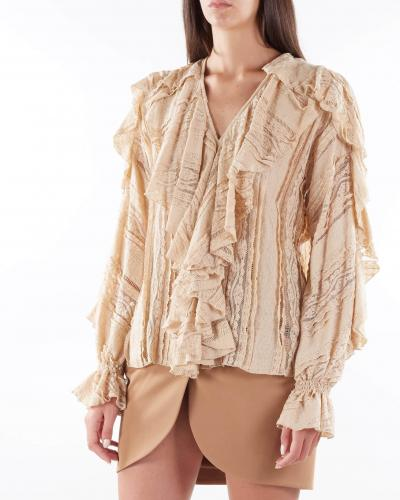 MATILDE COUTURE Camicia in pizzo con rouches Matilde Couture  Camicie | TAYLORCAMMELLO