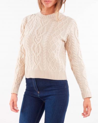 MAX MARA WEEKEND Maglia in filato di lana con lavorazione punto aran Max Mara Weekend  T-shirt | ACCORDO2