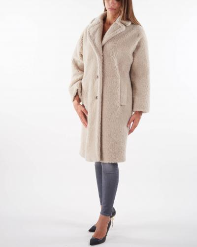MAX MARA WEEKEND Cappotto in misto lana effetto pelliccia Max Mara Weekend  Cappotti | SALMONE5