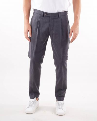 MICHAEL COAL Pantalone in lana con pences Michael Coal  Pantaloni | FREDERICK3610GRIGIO