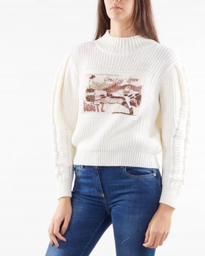 NENETTE Maglia con ricamo Nenette  T-shirt | MAGIC6