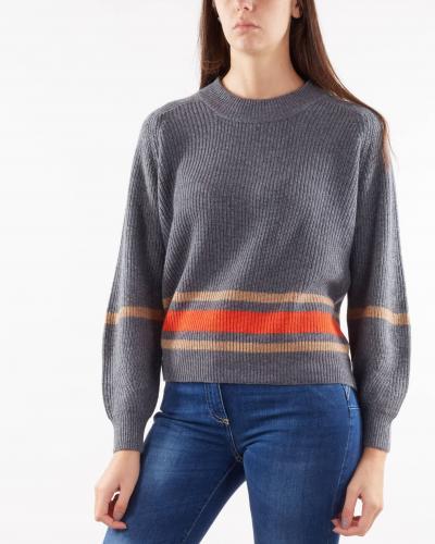 NENETTE Maglia jacquard a costine Nenette  T-shirt | MALIKA701