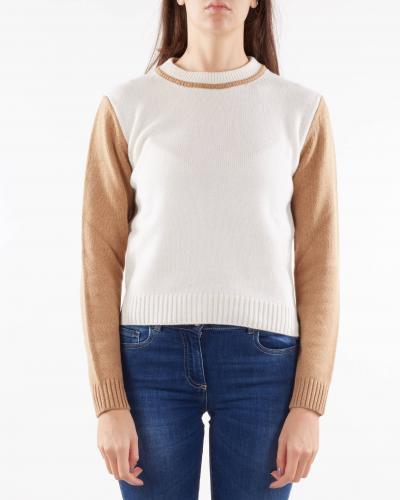 NENETTE Maglia misto cashmere bicolor Nenette  T-shirt | MAYR2161