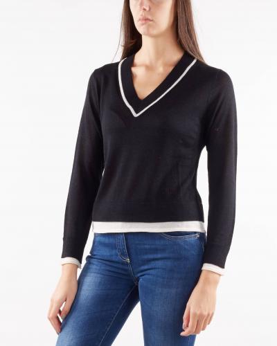 NENETTE Maglia in misto lana con scollo a V Nenette  T-shirt | MED798
