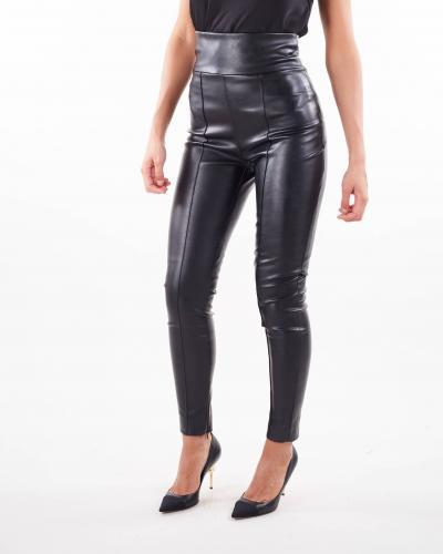 NINEMINUTES Pantalone in ecopelle di Nineminutes  Pantaloni   LEGSLEATHERNERO