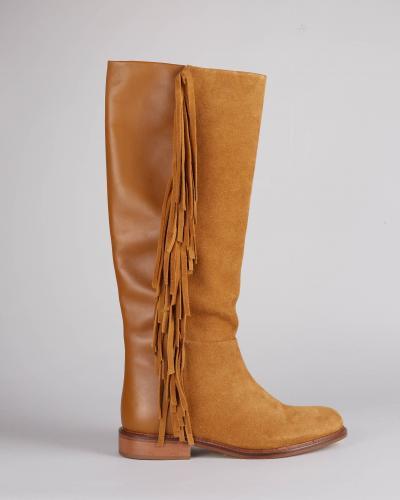 TWIN SET Stivali in pelle con frange Twinset  Stivali | TCP106820