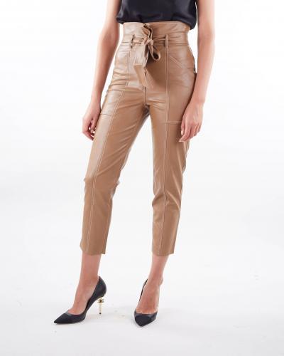 TWIN SET Pantaloni carrot in tessuto spalmato Twinset  Pantaloni   TP20216195