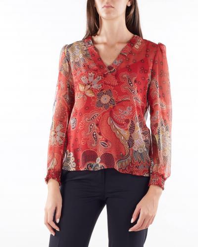 TWIN SET Blusa in creppone a fiori Twinset  Bluse | TP26426413