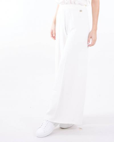 TWIN SET Pantalone in maglia a zampa vita alta Twinset  Pantaloni | TP3114282