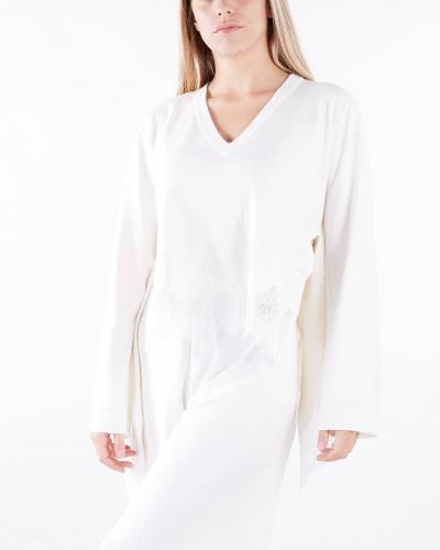 TWIN SET Maglia con pizzo smerlato Twinset  T-shirt | TP3204282