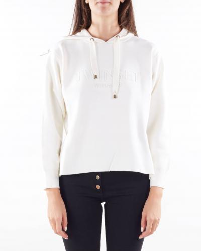 TWIN SET Felpa in maglia con cappuccio Twinset  T-shirt | TP3244282