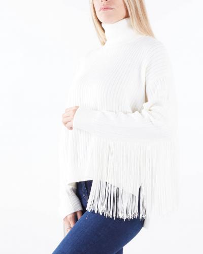 TWIN SET Maglia dolcevita in misto lana con frange Twinset  T-shirt | TP3290282