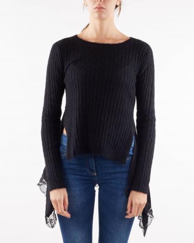 TWIN SET Maglia in misto mohair con inserti Twinset  T-shirt | TP350B6