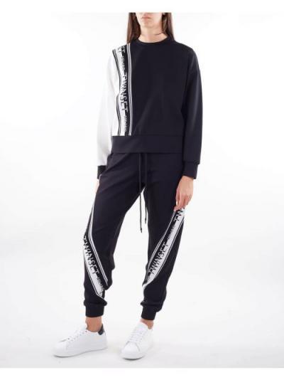 TWIN SET Joggers in maglia con logo Twinset  Pantaloni | TT23832741