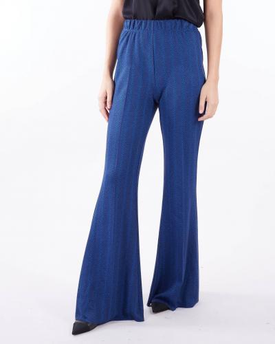 VICOLO Pantalone jacquard a vita alta Vicolo  Pantaloni   TX0556BLU