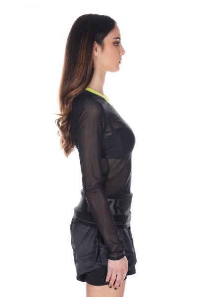 ADIDAS Maglia logata con trasparenze Adidas  T-shirt | FL4145BLACK