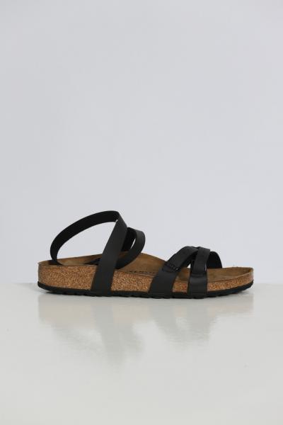 BIRKENSTOCK Ciabatta donna nero birkenstock con cinturino alla caviglia e bande regolabili  Ciabatte   1015840BLACK