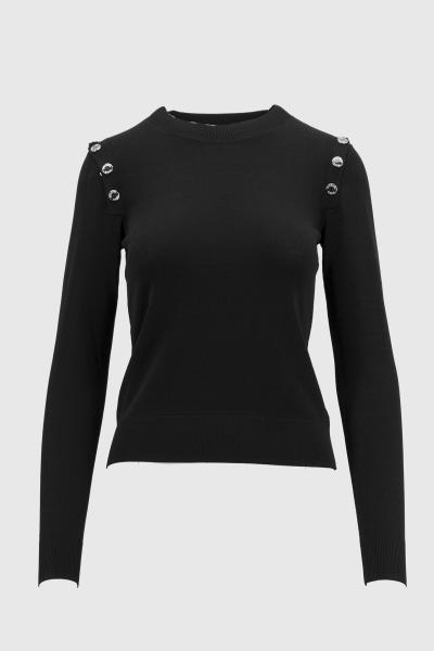 MICHAEL KORS snap sweater  T-shirt | MH96P6DBVC001BLACK