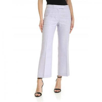 MICHAEL KORS linen crop kick pant  Pantaloni | MS03H8BA19562
