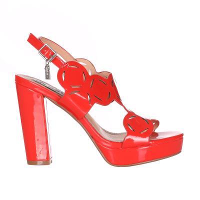 OSEY Sandalo Con Tacco Doppio E Cinturino  scarpe | SA0723CORALLO
