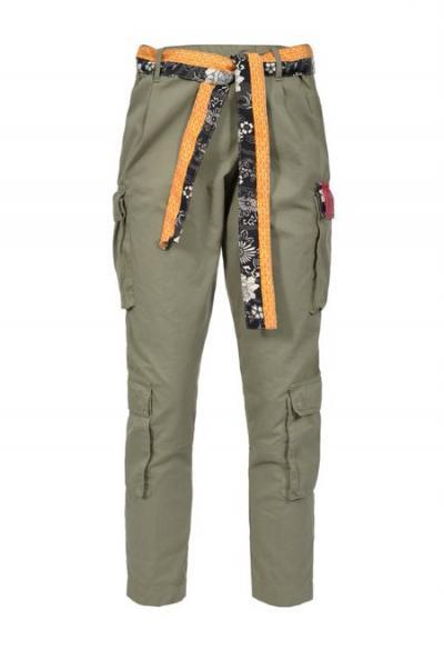 PINKO Pantaloni con cintura a contrasto  Pantaloni   1B14EN-Y67HU84