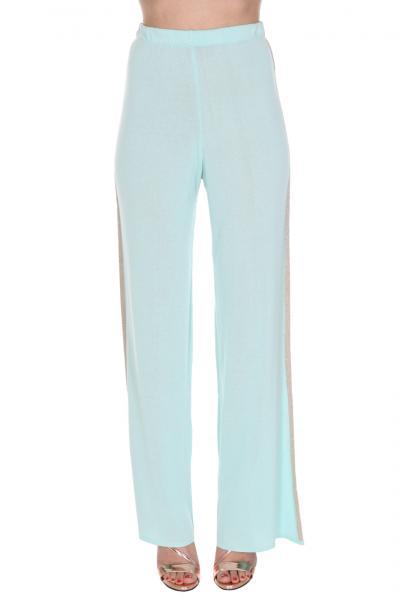 REVISE Pantapalazzo Con Applicazioni Laterali Revise  Pantaloni | R22410ACQUA/ORO
