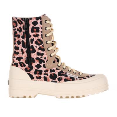 SUPERGA X PAURA Sneakers Animalier Con Chiusura In Zip E Lacci  Sneakers | S6111BWBROWNLEOPARD