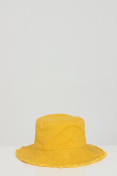 ADDICTED Cappello unisex giallo Addicted sfrangiato modello bucket  Cappelli | BUCKET-HATGIALLO