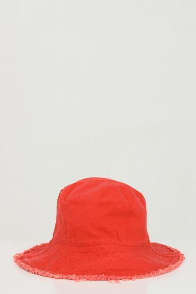 ADDICTED Cappello unisex rosso Addicted sfrangiato modello bucket  Cappelli | BUCKET-HATROSSO