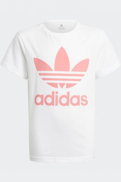 ADIDAS T-shirt bambina bianco adidas con stampa logo frontale  T-shirt   GN8213.
