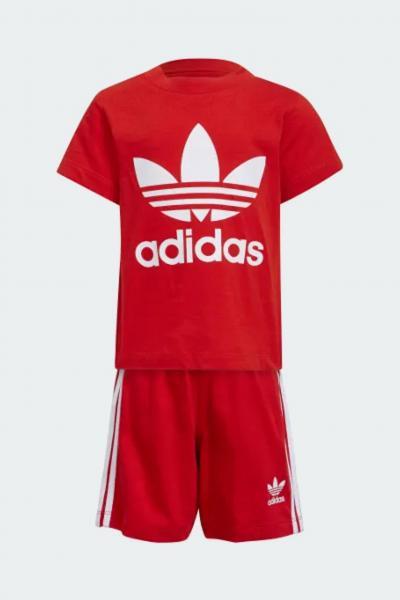 ADIDAS Completino neonato rosso adidas con stampa logo a contrasto  Completini   H35556.