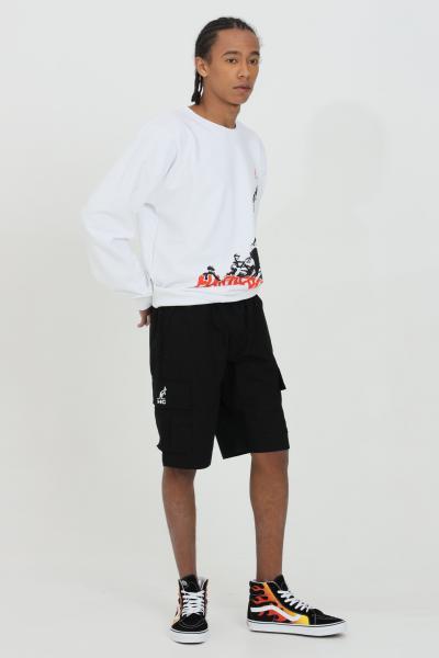 AUSTRALIAN Shorts uomo nero casual  Australian con molla in vita.Tasconi laterali,logo laterale  Shorts | HCUSH0002003